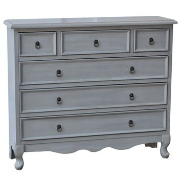 Hampton 6 Drawer Light Grey Chest