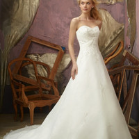 Mori Lee 2105 Strapless A-Line Wedding Dress