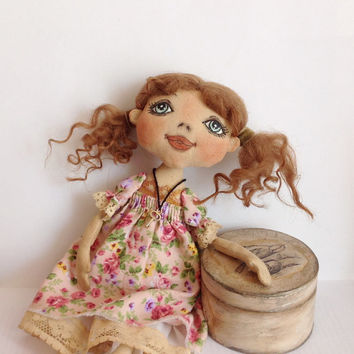 Cloth doll-Cloth art doll-Art doll-OOAK doll-Textile dolls-Collecting doll-Stuffed doll-Fabric doll-Soft doll-Doll-Rag doll-Cotton doll