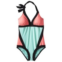 Junior's 1-Piece Swimsuit -Colorblock