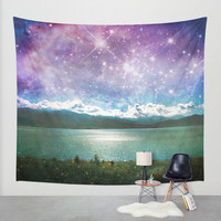 Mothership Spotting Wall Tapestry by Jenndalyn