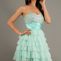 Bee Darlin Short Strapless Beaded Dress