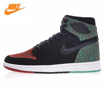 Nike Air Jordan 1 Retro High Flyknit BHM Men Basketball Shoes,Men Outdoor Sports Sneakers Shoes AA2426-026