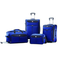 Blue 4 Piece Carry-On Travel Wheeled Rolling Spinner Suitcase Luggage Set Baggage Set