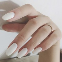 Plain Fake Nail With Tape 25pack