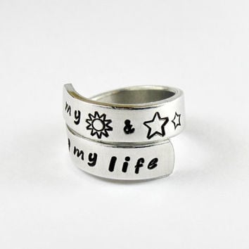My Sun And Stars, Moon Of My Life Ring, Game Of Thrones Inspired Relationship Ring, Couples Ring, Love And Friendship Jewelry, Spiral Ring