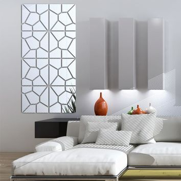 Modern Acrylic Mirror fashion 3D Wall Sticker