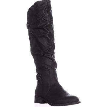 White Mountain Leto Slouch Knee High Boots, Black, 8.5 US