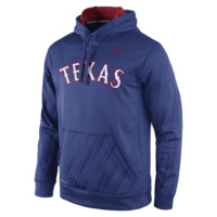 Nike Speed KO Pullover (MLB Rangers) Men's Training Hoodie Size 2XL (Blue)