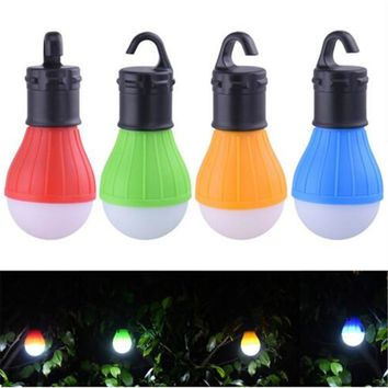 Portable Outdoor Hanging 3 LED Camping Lantern,Soft Light LED Camp Lights For Garden Lamp Bulb Camping Tent Accessories 4 Colors