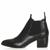 MARGOT Leather Boots - Black