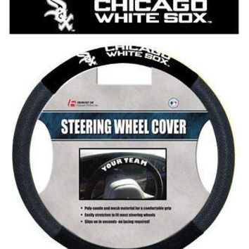 Chicago White Sox Poly/Mesh Steering Wheel Cover