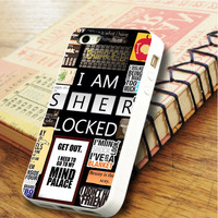 A bunch of Sherlock Sherlock Tardis TV series Sherlock Qoute | For iPhone 6 Cases | Free Shipping | AH0813