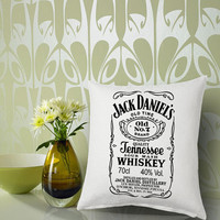 jack daniels Pillow Cover Printed # 18 x 18 # 16 x 24 # 20 x 30 # Modern Pillow Case # Decorative Throw Pillow Case