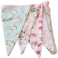 English Vintage Floral Design Party Bunting (3 meters):Amazon:Garden & Outdoors
