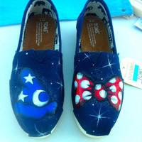 His and Hers Mickey and Minnie Custom Hand Painted Disney Toms