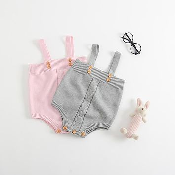 2017 Autumn Baby Knitted Rompers Cute Newborn Baby Boy Girl Clothes Overalls Kids Knitted Jumpsuits Newborn Baby Clothes Sweater