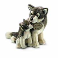 Russ Yomiko Wolf Mom and Baby, 12""