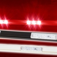 Storefront LED white track with Red T5630 Super Bright LED Light