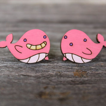 Steven Universe Tiny Floating Whale Stud Earrings