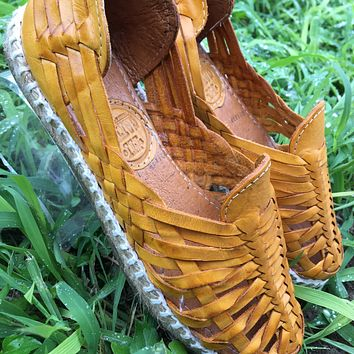 Mexican Leather Espadrille Sandals