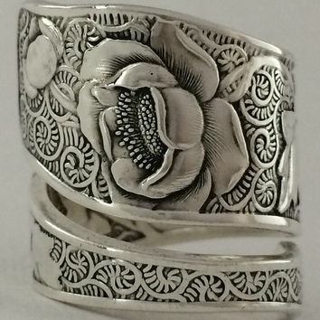 Size 7.5 Vintage Sterling Silver Towle Spoon Ring