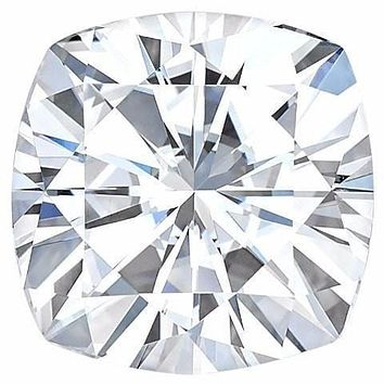 Certified Cushion Forever One Charles & Colvard Loose Moissanite Stone - 1.30 Carat - E Color - VVS1 Clarity