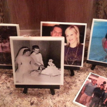 Custom Photo Coasters, Family photo coasters,  Wedding Favor,Party Favor, Pet Photos,Baby Photos, Memorial Coaster, Personalized Coaster Set