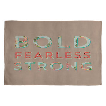Allyson Johnson Bold Fearless And Strong Woven Rug