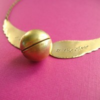 Harry Potter Snitch Necklace #2 | Spiffing Jewelry