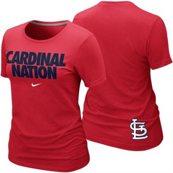 Nike St. Louis Cardinals Ladies Cardinal Nation Local Premium T-Shirt - Red