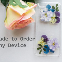 Clear iPhone 6 Case, Pressed Flower iPhone 6 Plus Case, Floral iPhone 5c Case, Flower iPhone 5 Case, iPhone 5s Case Clear, Red Rose Case