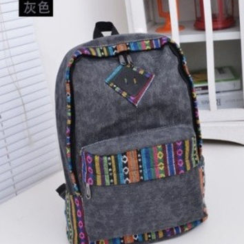 Comfort On Sale College Back To School Casual Hot Deal Korean Canvas Stylish Fashion Vintage Backpack [6583211399]