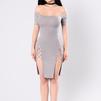 Hot Date Dress - Taupe