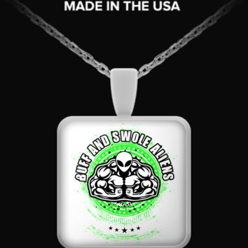 Buff and Swole Aliens Necklace aliens4necklace