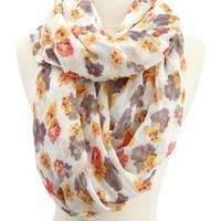 Pretty Poppy Infinity Scarf: Charlotte Russe