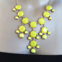 MINI Bubble Necklace ,16mm bubble,JCrew Style Inspired Statement Necklace , yellow necklace ,wedding Bridesmaids Jewelries