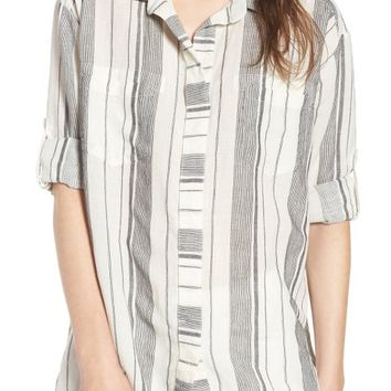 Rip Curl Split Back Stripe Top | Nordstrom