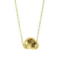 Circle & Square | Montauk Pebble Necklace- Gold