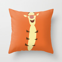 Winnie the Pooh - Tigger Throw Pillow by TracingHorses | Society6