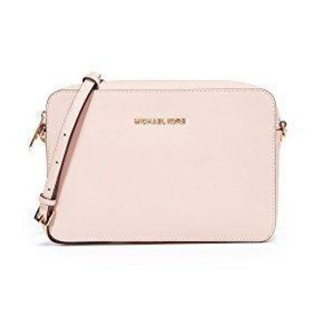 Michael Kors Women's Jet Set Crossbody Leather Bag, Large