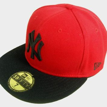 LMFON New York Yankees New Era MLB Authentic Collection 59FIFTY Cap Red-Black