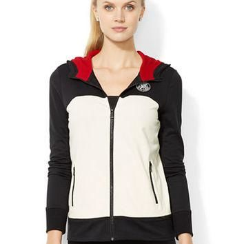 Lauren Ralph Lauren Petite Full-Zip Color-Blocked Hoodie