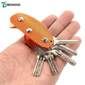 Multi-Use Compact Aluminum Alloy Key Holder Key Organizer Clip Folder EDC Pocket Tool Gear for Camping Hiking Picnic Traveling