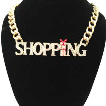 Shopping Gold Necklace
