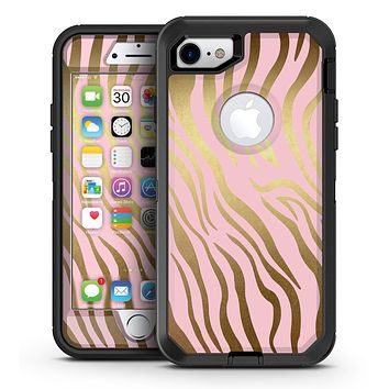 Pink Gold Flaked Animal v6 - iPhone 7 or 7 Plus OtterBox Defender Case Skin Decal Kit