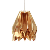 Origami Lamp | Plain Warm Gold | Design Lamp Shade | FREE SHIPPING