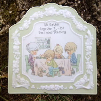 Vintage Precious Moments Lords Blessing Wall Hanging Collectible