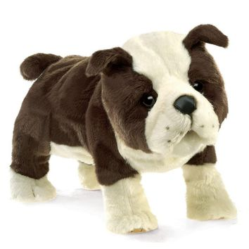 Folkmanis Bulldog, English Puppy Hand Puppet