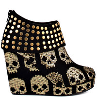 Iron Fist - Gold Star Wedge - Black and Gold